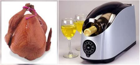 Turkey and wine.